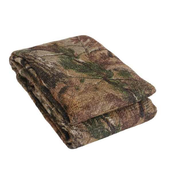 Camouflage fabric for use in ground blinds, tree stands & waterfowl blinds