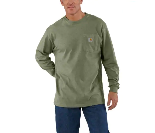 Men's Carhartt Long Sleeve tee from Stockdales' Western Clothing Store in TN