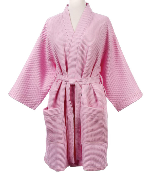 Pink Waffle Robe Kaleidoscope 5 at Country Home Decor Store Tennessee