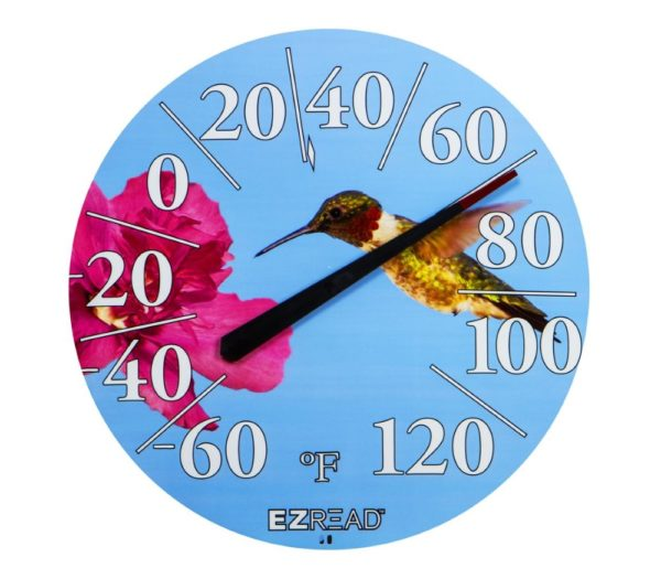 Headwind EZRead Dial Thermometer with Hummingbird print from Stockdales' Country Home Decor Store