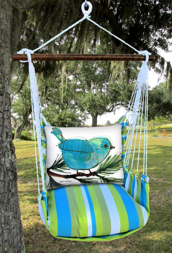 Bird pillow and padding for outdoor furniture