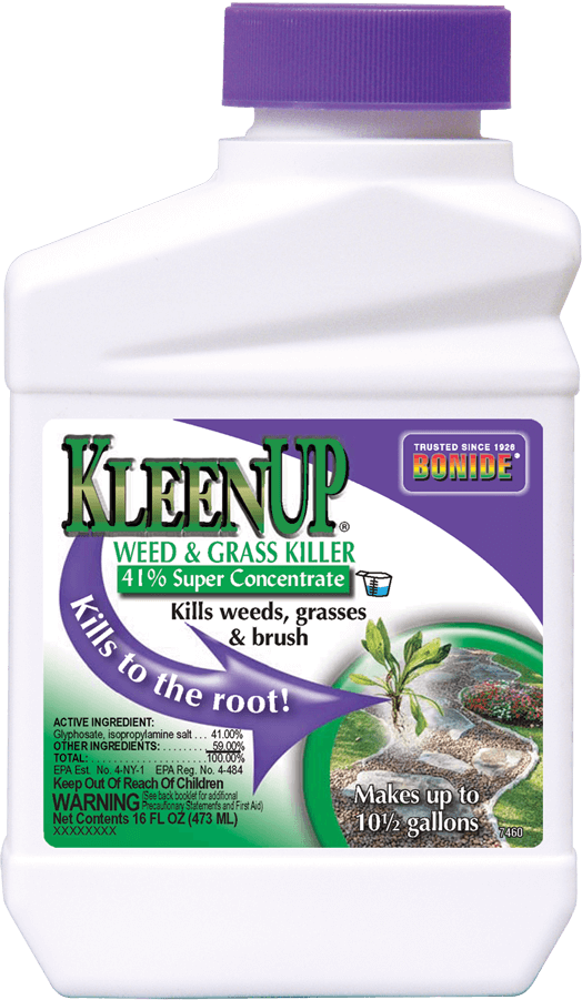 Bonide Kleenup Weed & Grass Killer, found at Stockdales' lawn and garden stores
